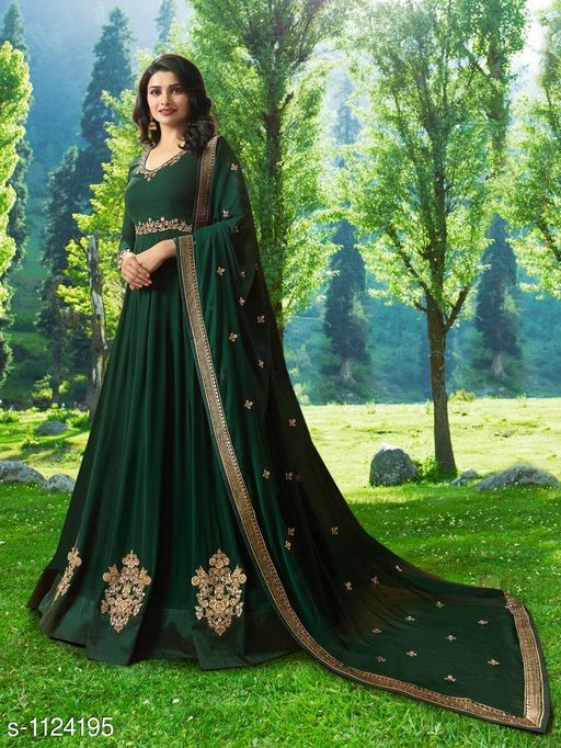 Elegant Georgette Embroidered Suit & Dress Material