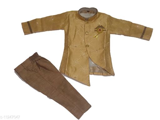 Ethnic Jackets Pretty Fancy Boys Ethnic Jackets  *Fabric* Cotton  *Sleeve Length* Long Sleeves  *Pattern* Solid  *Combo of* Single  *Sizes*  1-2 Years  *Country of Origin* India  *Sizes Available* 1-2 Years *    Catalog Name: Agile Elegant Boys Ethnic Jackets CatalogID_2100033 C58-SC1171 Code: 856-11247047-