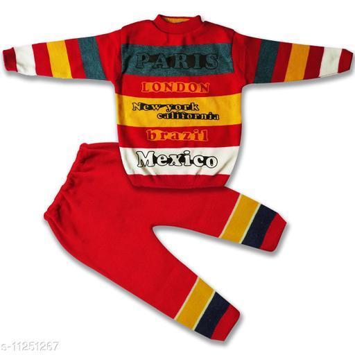 Fany Trandy Stylish Woolen Boys Sweater and pant Set