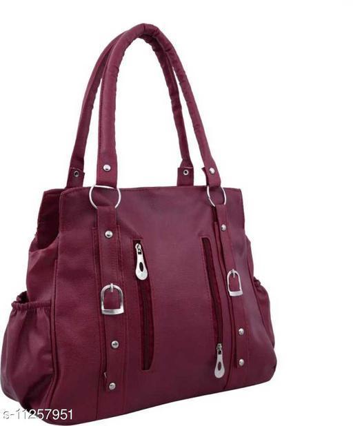 ELEGANT AND CLASSIC MAROON WOMEN SHOULDER BAG