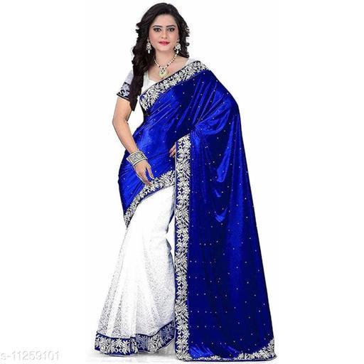 Stylish women's velvet saree