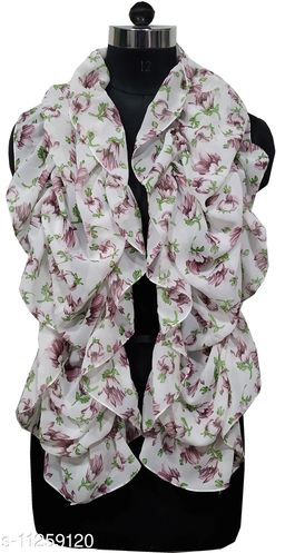 Printed Ruffle Scarves