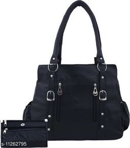 CLASSIC AND FOXY BLACK WITH POUCH SHOULDER BAG