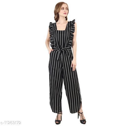 JB&WK Fashion's New Trendy Stylish Design Striped Maxi Jumpsuit