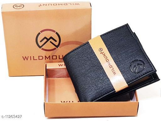 Wildmount Black Styles Latest Men's Artificial Leather Wallets