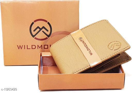 Wildmount Beige Trendy Men's Artificial Leather Wallets