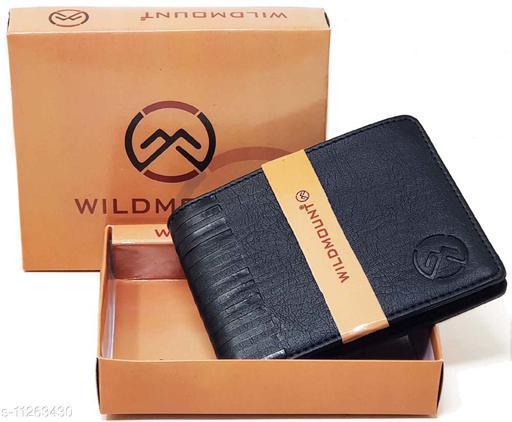 Wildmount Black New Stylish  Men's Artificial Leather Wallet