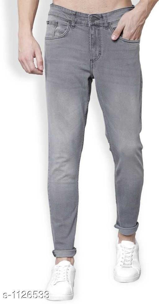 Trendy Denim Men's Solid Jeans