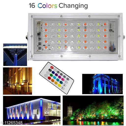 LED Flood Light Multi Color with Remote Waterproof IP66 LED Flood Light (50 Watt) Pack 1