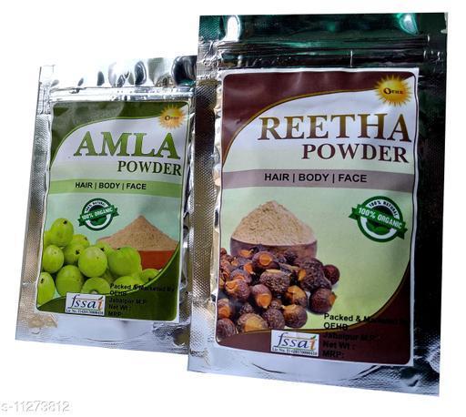 OEHB 100% Organic Amla and Reetha  Powder Each 50 gm