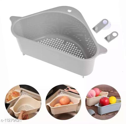 Sink Corner Tray Wash Basin Storage Organizer, Fruit Box Wash, Sponge Detergent Soap Liquid Storgaer,Corner Sink.