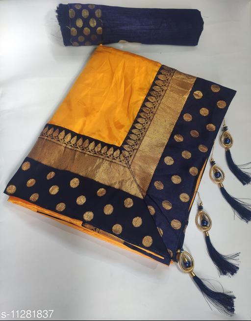 Premium Paper Silk Saree With Latkan