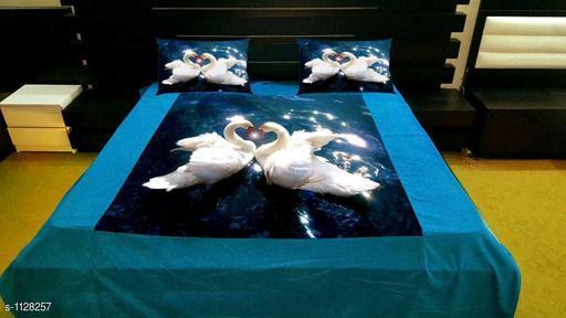 Trendy Velvet Printed  Double Bedsheet