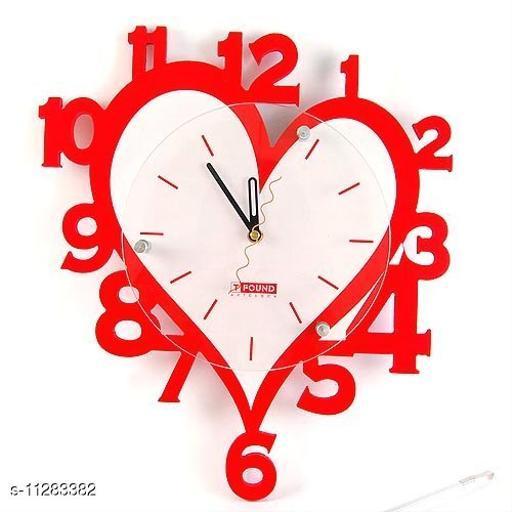 Beautiful Heart  Acrylic Wall Clock
