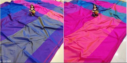 New Arrival Satin Silk Saree Checks Pattern And Zari Print Saree With Tassles