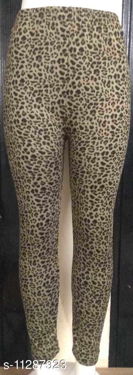 Girls Imported Feather Hot Woolen Legging/Full Foot Fleece lined Tights/Thermal Stretchy Leggings Pants/Winter Thick Warm Fleece/Fur Inside/Elastic Waist Band