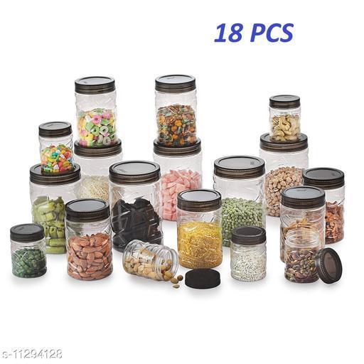 Stone Designed Unbreakable Plastic Kitchen Storage Containers Set, Kitchen Storage & Containers - Good Grips 18-pcs Airtight Round Canister Set.(18 Pcs Set)