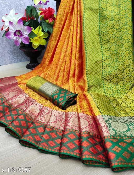 Muslin silk Saree With Running Blouse