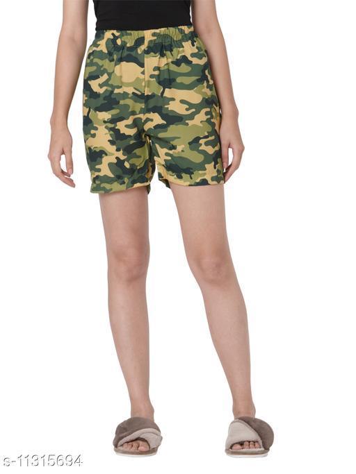 Smarty Pants women's military print shorts