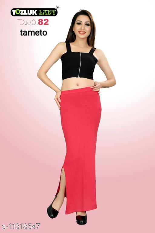 Trendy Saree Shape Wear Peticoat With Side Slit