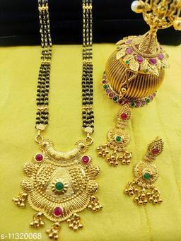 Women's Alloy Gold Plated Mangalsutras Set