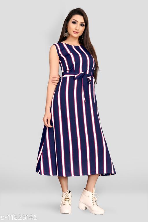 Trendy Fancy Maxi Dress With Belt