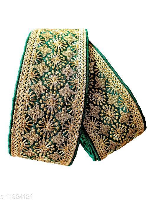 Embroidery Gold Heavy Design Lace Border for Saree, Kurti, Dupatta etc Decoration Border Lace