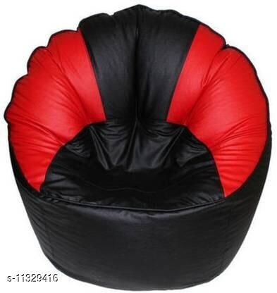 Red & Black Sofa Bean Bag Cover Without Beans - 3xl