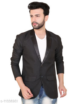 Abc Garments Viscose Casual Satin Collar Blazer