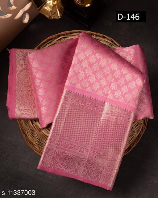 gold zari enchantment on beautiful baby pink