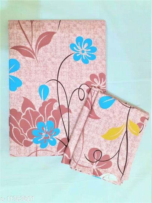 Raksitha Cotton - 100% Cotton -Floral Design King Size Bedspread with 2 Pillow Covers(90 inch x 100 inch)