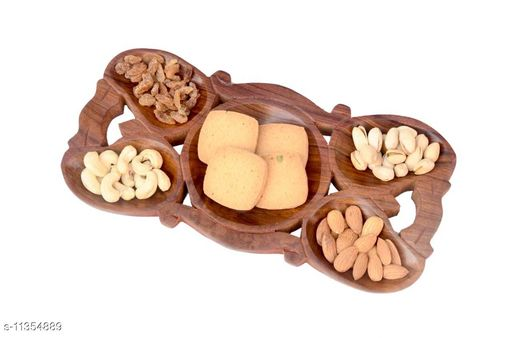 Dryfruit/Snack Tray - 5 Compatment  - 12 x 6 Inch