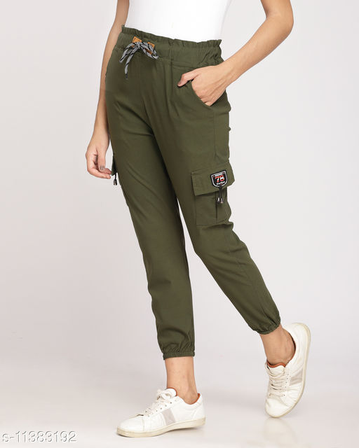 jogger fit normal cargo jeans for women