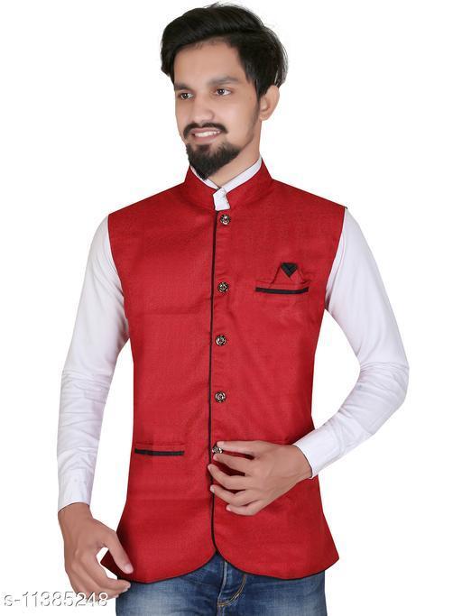 abc garments Nehru Jacket For Men's