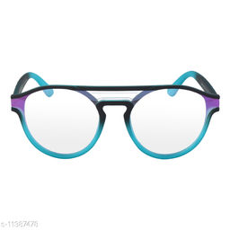 RN Purple and Black Aviator Shape UV protected Computer Glasses Frame Sunglasses