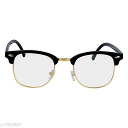 RN Black Clubmaster Shape UV protected Computer Glasses Frame Sunglasses