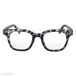 RN Black and White Wayfarer Shape UV protected Computer Glasses Frame Sunglasses