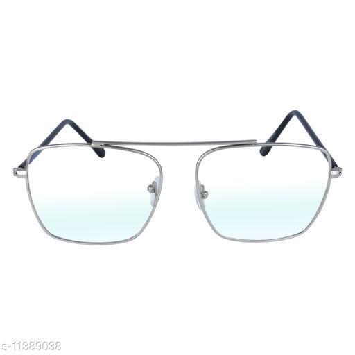 RN Silver Rectangular Shape Lightweight Spectacle Frames Sunglasses for Men