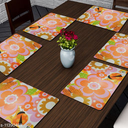 PVC Printed Water and Heat-Proof Table Placemat (Set of 6)