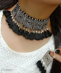 Shimmering Unique Necklace and Earrings