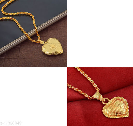 Pendants & Lockets RN Gold Plated Brass 24KT Photo Added Pendant with Non Added Pendant Heartshape Design Pendant Locket for Men and Women  *Base Metal* Brass  *Plating* Gold Plated  *Stone Type* Artificial Stones  *Type* Pendant with Chain  *Multipack* 1  *Sizes*   *Country of Origin* India  *Sizes Available* Free Size *    Catalog Name: Elite Graceful Pendants & Lockets CatalogID_2137431 C77-SC1095 Code: 664-11396949-
