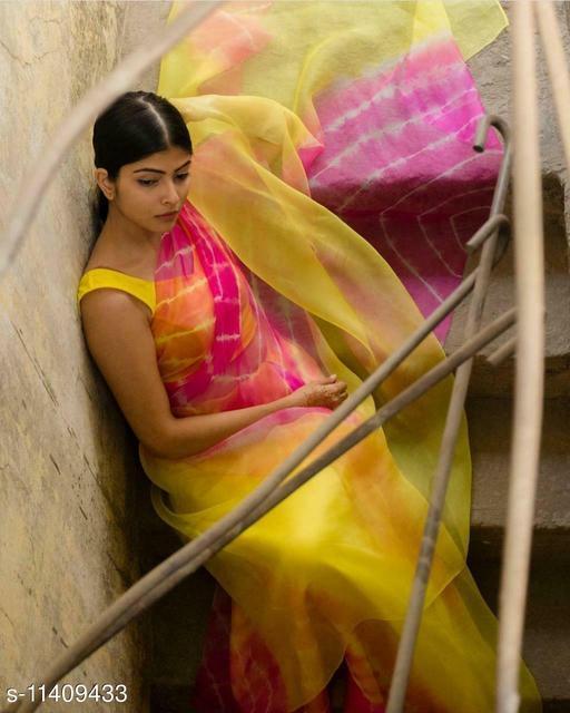 Diya Fashion presenting Most Beautiful Famous Organza Saree with New Trendy Design