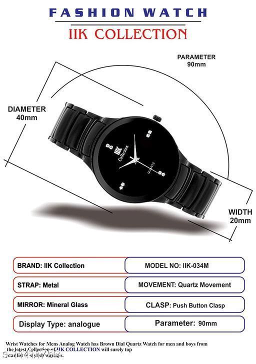 IIK Full BK Men - IIK Black Analogue Black Dial Basics Wrist Watch for Men -