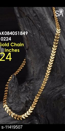 GOLD PLATED LEAF CHAIN