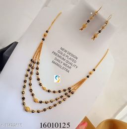 GOLD PLATED BALL MS WITH EARRING