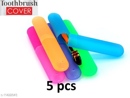 TENIDO Anti Bacterial Toothbrush Container (Pack of 5)- Kewalraj & Co Tooth brush Cap, Caps, Cover, Covers, Case, Holder, Cases, travel, home use