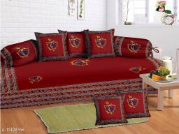 Patchwork Diwan set 100% cotton 180 TC set of 8