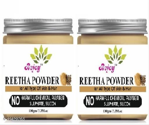 Bejoy 100% Pure And Natural Reetha Powder 200 Grams Pack of 2