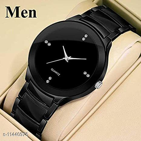BLACK PANTHER Latest Black Dial Metalic Watch for Men And Boys