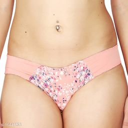Women Seamless Pink Polyester Panty (Pack of 2)